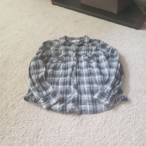 OP snap button up plaid long sleeve